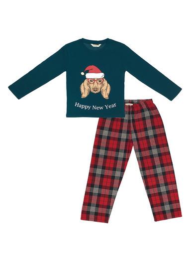 Katia & Bony Yılbaşı Kız Çocuk Pijama Takımı  Yeşil